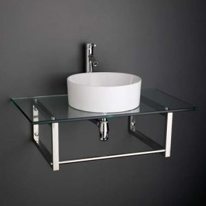 Basin and Glass Shelf Set