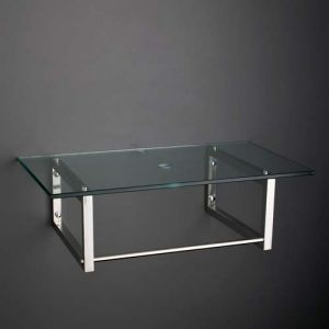 600mm by 500mm Toughened Glass Bathroom Shelf Kit With Wall Brackets 600G