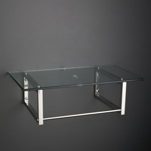 450mm by 450mm Square Clear Glass Wall Mounted Shelf Kit with Brackets and Fixings 450G