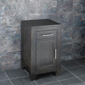 Cloakroom Dark Oak Wenge Square Vanity Storage Cabinet ALTA45W