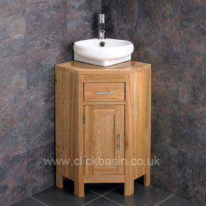 Corner Cloakroom Vanity Storage Cabinet + Cesena Basin Set ALTASW