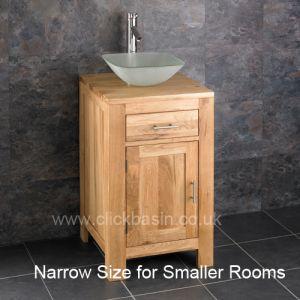 Alta Narrow Solid Oak Cabinet