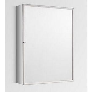 Tall Single Door Mirror Bathroom Wall Cabinet 500mm x 700mm ALMERIA