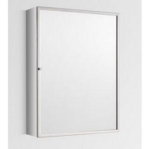 Tall Single Door Mirror Bathroom Wall Cabinet 500mm x 700mm ALMERIA