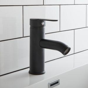High Quality Black Matte 180mm High Single Lever Bathroom Basin Tap