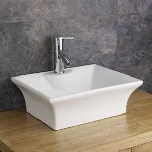 Freestanding Rectangle Counter top Bathroom Basin 480mm x 380mm CATANIA