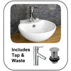 Udine Counter Basin + Tap + Waste Set