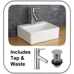 Salerno Basin + Tap + Waste Set