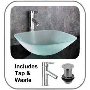 Padova Square Frosted Basin Set