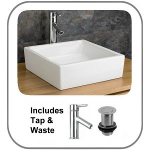 Bergamo Basin + Tap + Waste Set