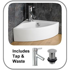 Florence Corner Basin + Tap + Waste Set