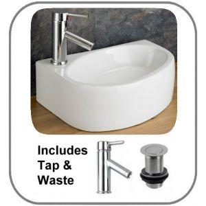 Balsamo Left Basin + Tap + Waste Set