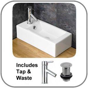 Lucca Basin + Tap + Waste Set