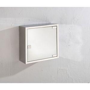 Wall Mounted Travis Single Door 300mm by 300mm Space Saving Mirror Bathroom Cabinet