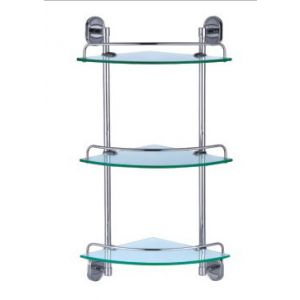 Dart Triple Corner Glass Shelf Set