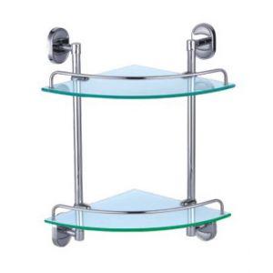 Dart Double Corner Glass Shelf Set