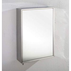 Single Door Tall Mirror Bathroom Wall Cabinet 400mm x 600mm ALMERIA