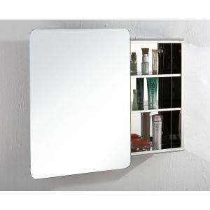 Large Sliding Door Bathroom Wall Mirror Cabinet 660mm x 460mm VALENCIA