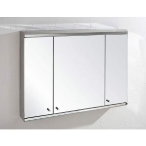 Large 3 Door Wall Mounted Mirror Bathroom Cabinet 800mm x 550mm BISCAY
