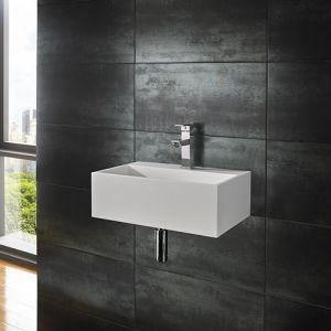 Wall Hung Stone Resin Rectangle Bathroom Sink 450mm x 300mm KIVA