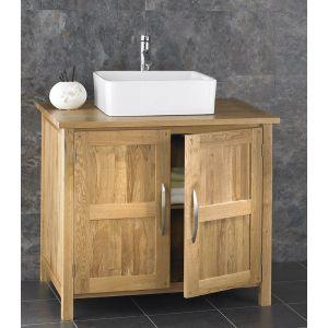 Ohio Solid Oak Bathroom Cabinet With Basin