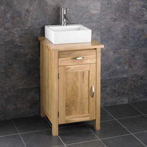 Ohio Solid Oak Narrow Cabinet With Basin