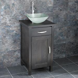 Ohio Narrow Solid Oak Cabinet