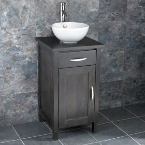 Ohio Solid Oak Narrow Cabinet With Basin