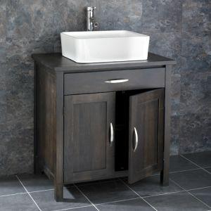 Ohio Solid Oak Double Door Bathroom Basin Cabinet