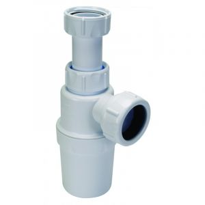 Plastic Round 32mm Extendable White Bottle Trap