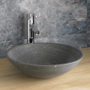 Portici 40cm Limestone Black Basin