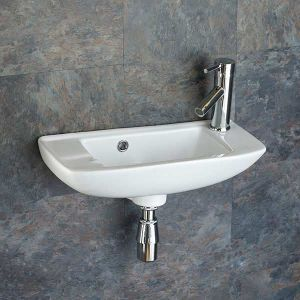 Narrow Wall Mounted Slim Basin Bathroom Sink 510mm x 230mm PORTO