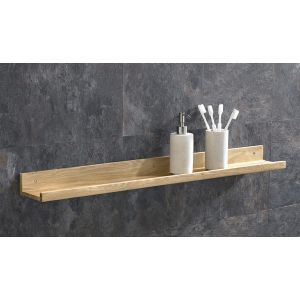 Solid Oak Bathroom Shelf 90cm