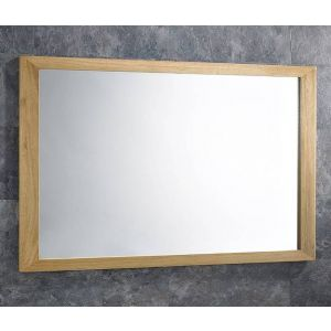 Large Solid Oak Wall Hung Bathroom Mirror Portrait or Landscape 900mm by 600mm