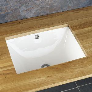 Rectangular Undermount White Bathroom Sink 510mm x 385mm LISBON