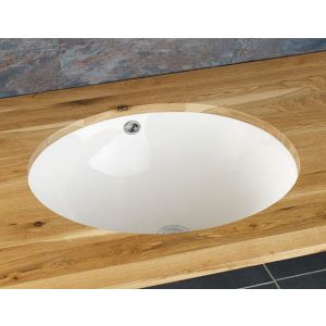 Oval Large Undercounter White Bathroom Sink 580mm x 390mm TONDELA