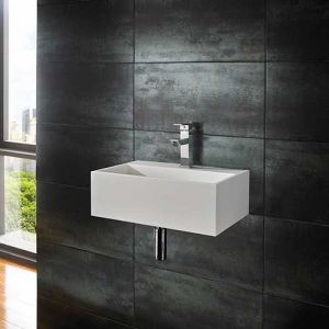 Wall Hung Stone Resin Rectangle Bathroom Sink 450mm x 300mm KIVA
