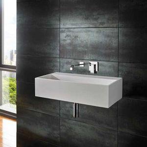 Wall Hung Stone Resin Rectangle Bathroom Sink 600mm x 300mm KIVA