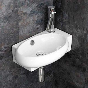 £39 VALUE RANGE Narrow Cloakroom Right Hand Basin | Free Delivery | LECCE R