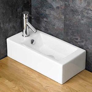 CounterTop Narrow Cloakroom Ensuite Left Hand Sink 500mm x 255mm LUCCA