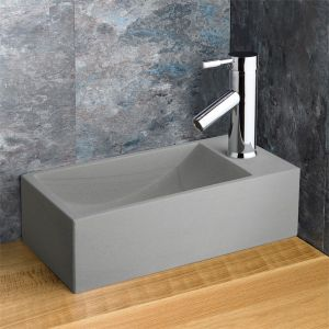 Valletri Grey Sandstone and Chrome Tap