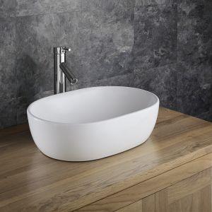 Countertop Curved Oval Freestanding Bathroom Basin 480mm x 345mm ARTA