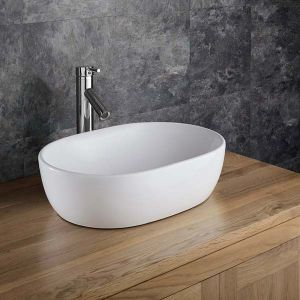 Countertop Curved Oval Freestanding Bathroom Basin 480mm x 345mm ARTA
