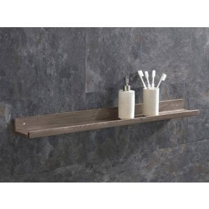 Solid Oak 600mm Long Bathroom Shelf Kit with Fixings