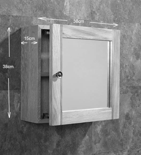 Excellent Small 380Mm Square Bathroom Wall Hung Mirror Storage Cabinet Solid Oak Download Free Architecture Designs Scobabritishbridgeorg