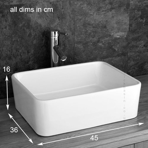 Stylish Trieste Rectangular Basin Glass Shelf Inc Tap