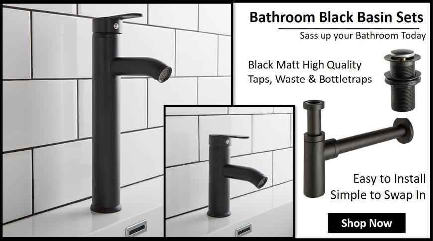 Bathroom Sink and Basin Sets in Black