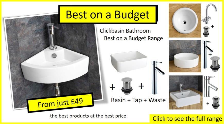 Cheap Bathroom Sinks, Clickbasins Value Range