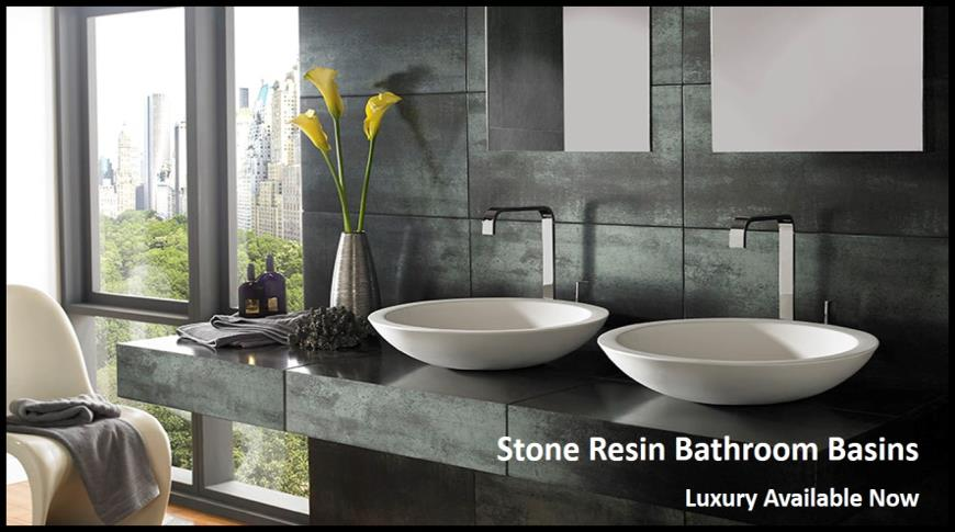 Stone Resin Bathroom Basins from Clickbasin