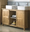 Oak bathroom vanity unit